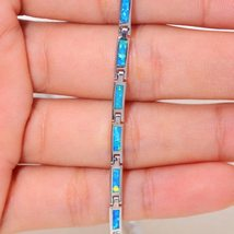 Ocean Blue Fire Opal Chains Necklaces Silver Plated Adjustable Long & Chokers Ne image 4