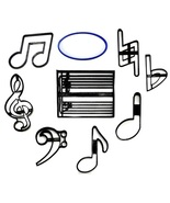 Music Musical Note Symbol Notations Set of 9 Cookie Cutters USA PR1596 - $21.99