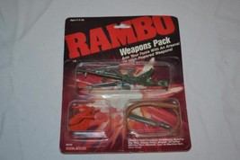 RAMBO Action Figure Weapons Pack MOC 1986 Coleco # 0836 - $12.00