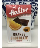HALTER SUGAR FREE FILLED BONBONS CANDY CANDIES DROPS Orange Chocolate - $7.91