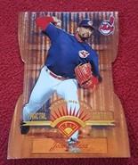 1997 Leaf Fractal Matrix X-Axis Die Cut Indians Baseball Card #153 Jose ... - $1.00
