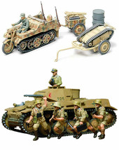 2 Tamiya Models - Panzer Kampfwagen and Kettenkraftrad with Infantry Car... - $31.67