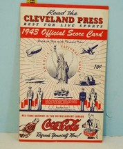 1943 Cleveland Press Indians Official Score Card v Browns War Time Cover... - $74.25