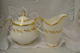 Vintage Royal Albert Symphony Bone China Creamer and Lidded Sugar Bowl L... - $58.01