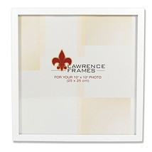 Lawrence Frames 755810 White Wood Picture Frame, 10 by 10-Inch - £11.44 GBP
