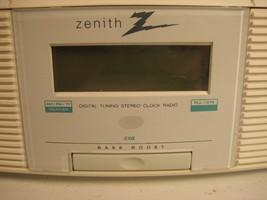 Zenith Clock Radio Stereo Z213W AM/FM/Weather with AUX image 2