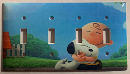 Peanuts Snoopy Charlie Brown Hug Light Switch Power wall Cover Plate Home decor image 7