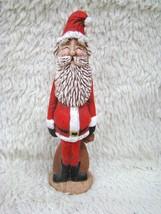 Handpainted Hollow Ceramic Eyes Closed, Rosy Cheeked Santa Figurine, Hol... - $7.91