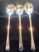 Vintage  Sheffield England Silver Plate Serving Salad Set 2 Spoon & Fork  - $17.60