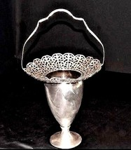 Silver Co 328 Silver Footed Vase with Silver Handle AA18-1196  Antique