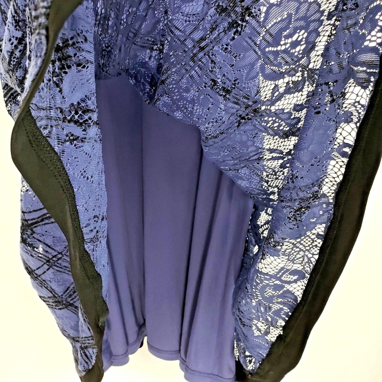 Ann Taylor Loft Purple Black Print Sleeveless Lace Fit n Flare Dress Size 8 NWT