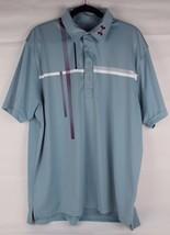 Under Armour men's heat gear loose polo shirt gray short sleeve size XL/TG/XG - $18.42