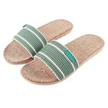 Summer Linen Indoor Slippers Embroidered Hemp Beach Casual Flax Slip On ... - $16.82+