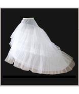 Fluffy Sweeping Three Layers Court Train Petticoat Underskirt Wedding Go... - $69.95