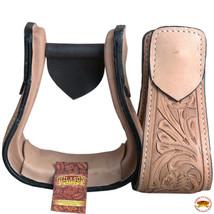 Horse Western Saddle Stirrup Leather Stirrups Pair Hilason U-T103 - $64.34
