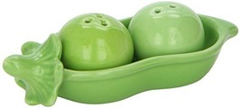 Kate Aspen Two Peas in A Pod Ceramic Salt and Pepper Shakers in Ivy Prin... - $8.39