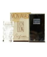 Vintage Lucien Lelong Mon Image Perfume Art  Deco Mirrored Box Bottle Pa... - $63.04