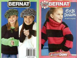 Bernat 6 Fun Knit Crochet Kids Designs Bonus Book - $10.75