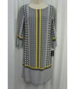 INC International Concepts Dress Sz XS Black Multi Color Geo Goddess Dress - €35,56 EUR