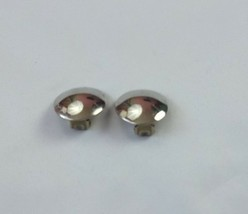 Beautiful Vintage Silver Tone Button Circle Clip-on Earrings (Z) - $7.02