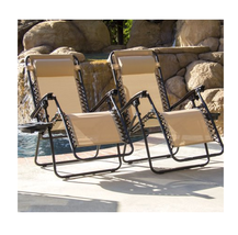 Outdoor Zero Gravity Lounger Adjustable Beach C... - $90.99