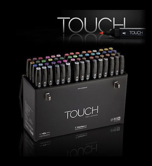 ShinHan Art TOUCH TWIN 60 Marker Set A Twin tips - 60 COLORS