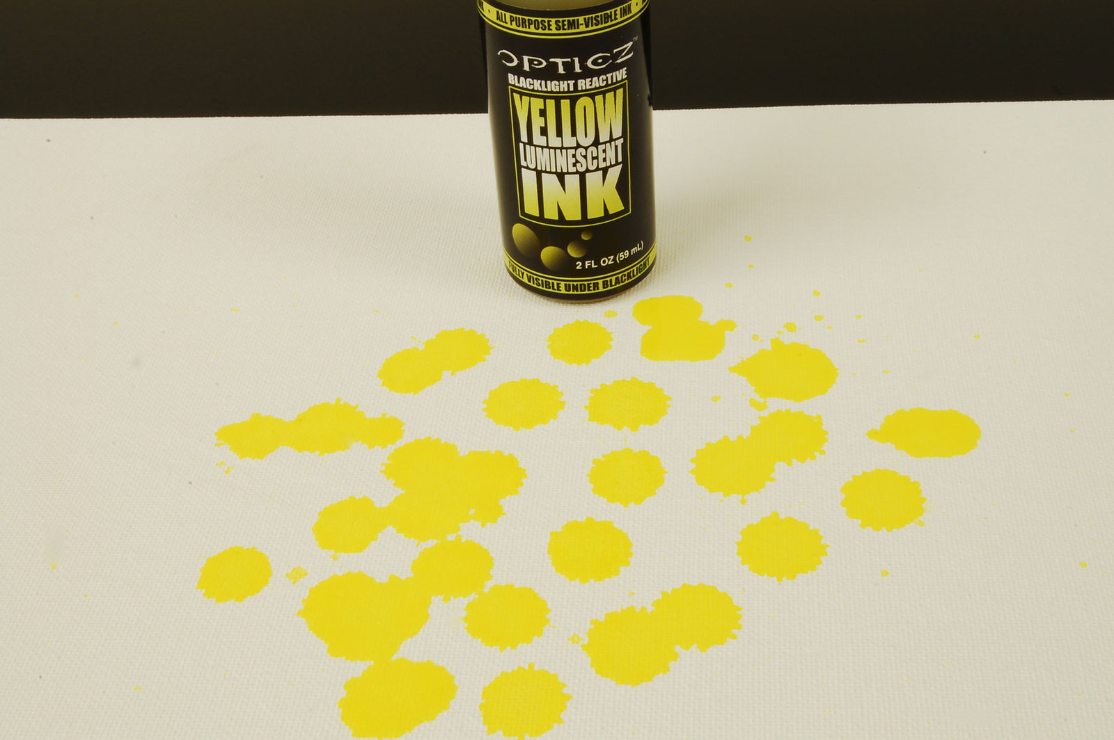 2oz Opticz Daytime Visible Yellow Luminescent UV Blacklight Reactive Ink