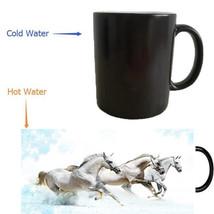 momentfrozen white horses heat reveal coffee mugs ceramic - $33.95