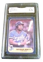 1986 Fleer George Brett Gma Graded EX+ 5.5 Baseball Card Number 5 - $9.99