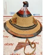 African Fulani Hat, Burkina Faso straw hat, African Summer Hat, Fulani H... - $433.11