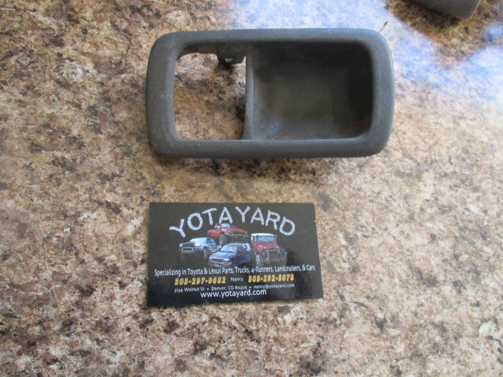 Fits 92-96 Camry Left Driver Front Rear Interior Door Handle /& Bezel Brown