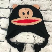 Paul Frank Unisex Sz 4-16 Hat Black Sock Monkey Theme Trapper Beanie War... - $9.89