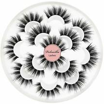 Veleasha 5D Faux Mink Lashes Handmade Luxurious Volume Fluffy (7 Count|D... - €14,80 EUR