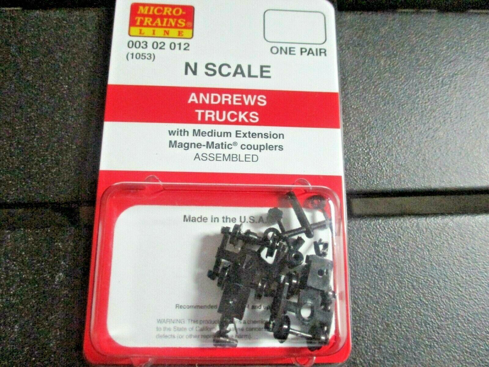 Micro-Trains Stock # 00302012 (1053) Andrews Trucks  Medium Extension N-Scale