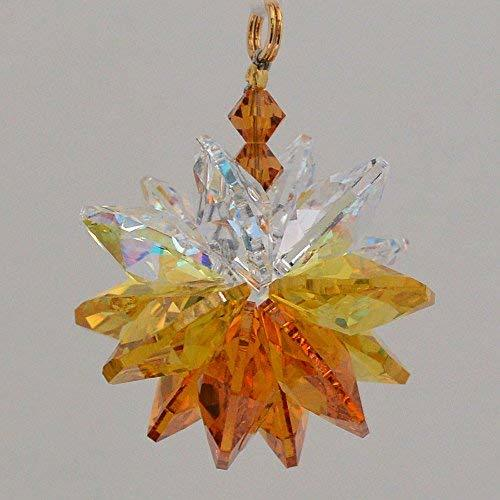 Yellow Ombre Small Suncluster with Austrian Crystal