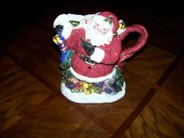 Fitz and Floyd Omnibus ~ Santa Claus Christmas Pitcher ~ Ceramic Era 1996 - $69.95