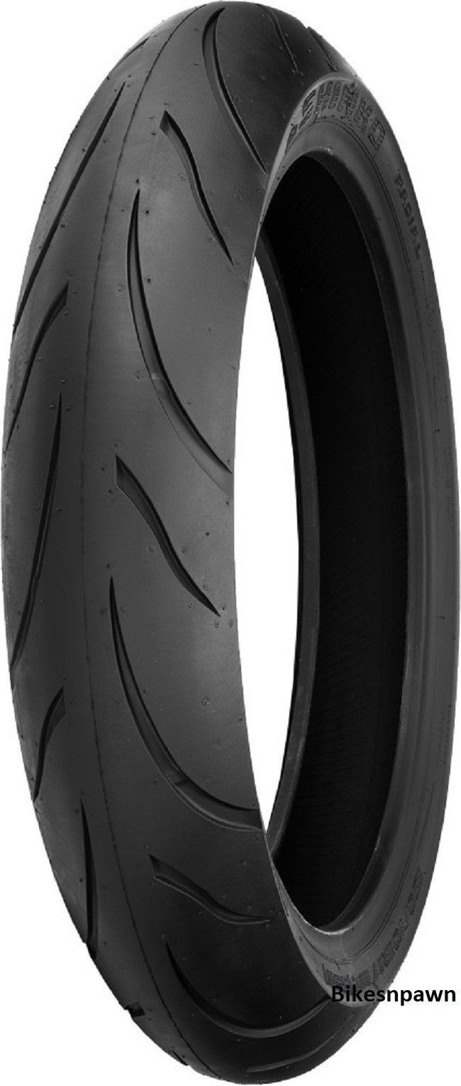 120/60ZR17 Shinko 016 Verge 2X Dual Compound Radial Front Motorcycle Tire W55