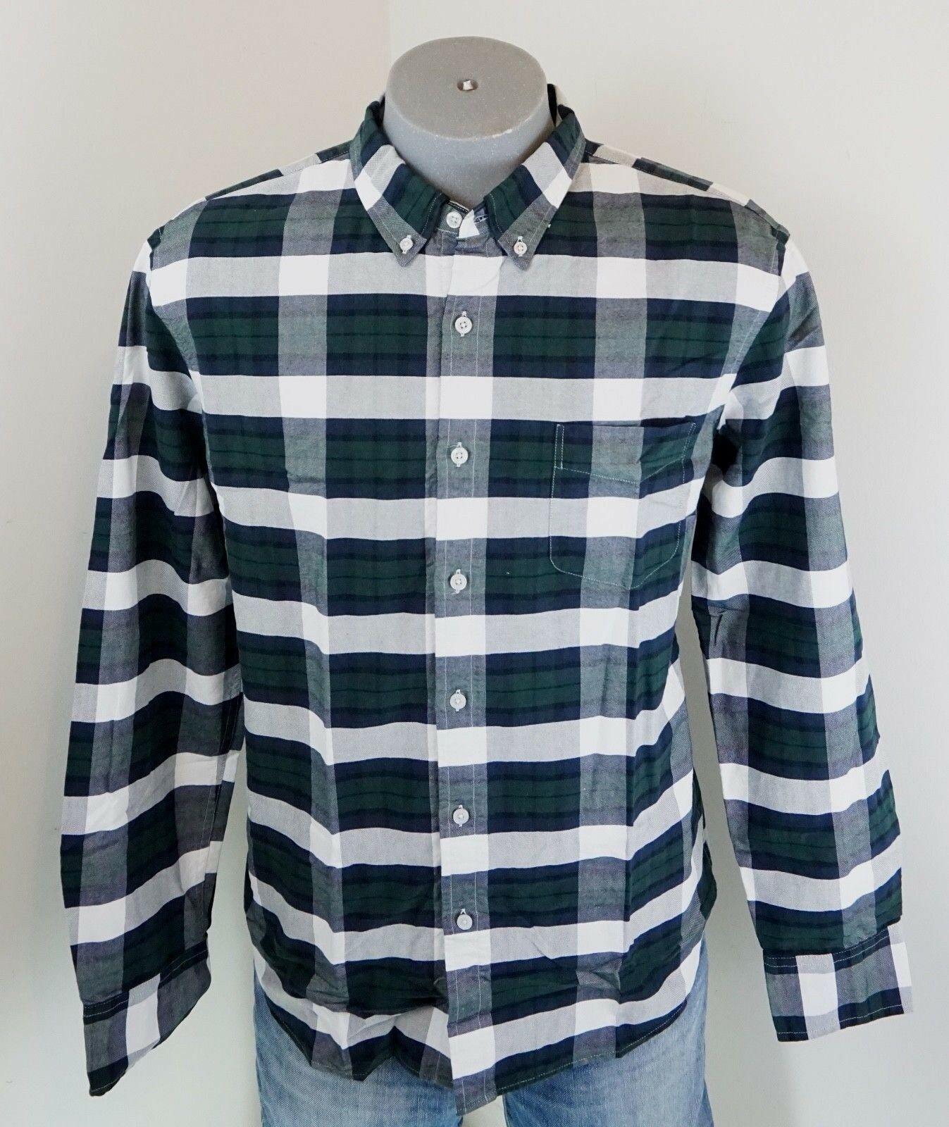 New J.Crew Men's Slim Fit Oxford Shirt Green Plaid XL J Crew NWT