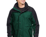 Tri-Mountain Climax 9300 Colorblock nylon parka - Forest Green /  Black
