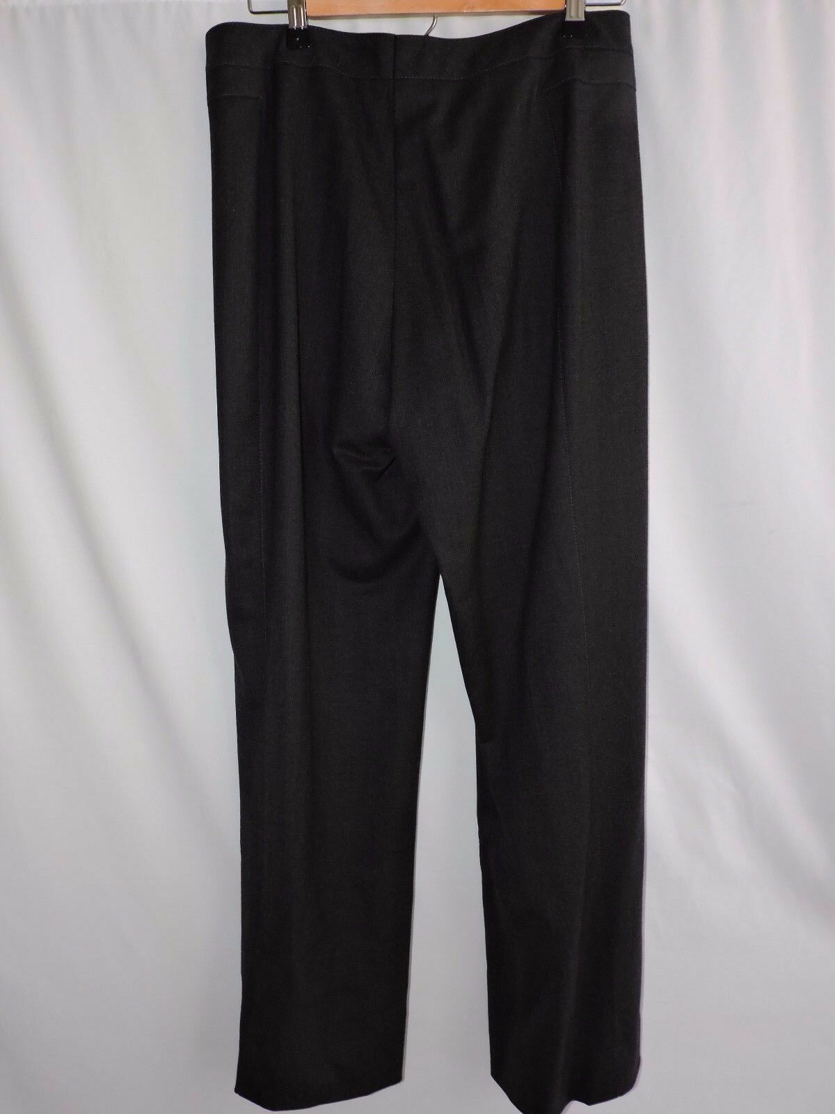 Escada Gray Wool Blend Dress Pants Wide Leg Flat Front Career Work 40 US size 10
