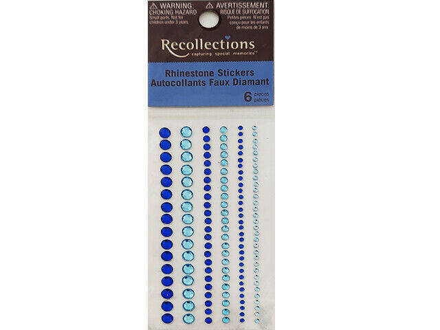 Recollections Adhesive Rhinestone, Blue #174781