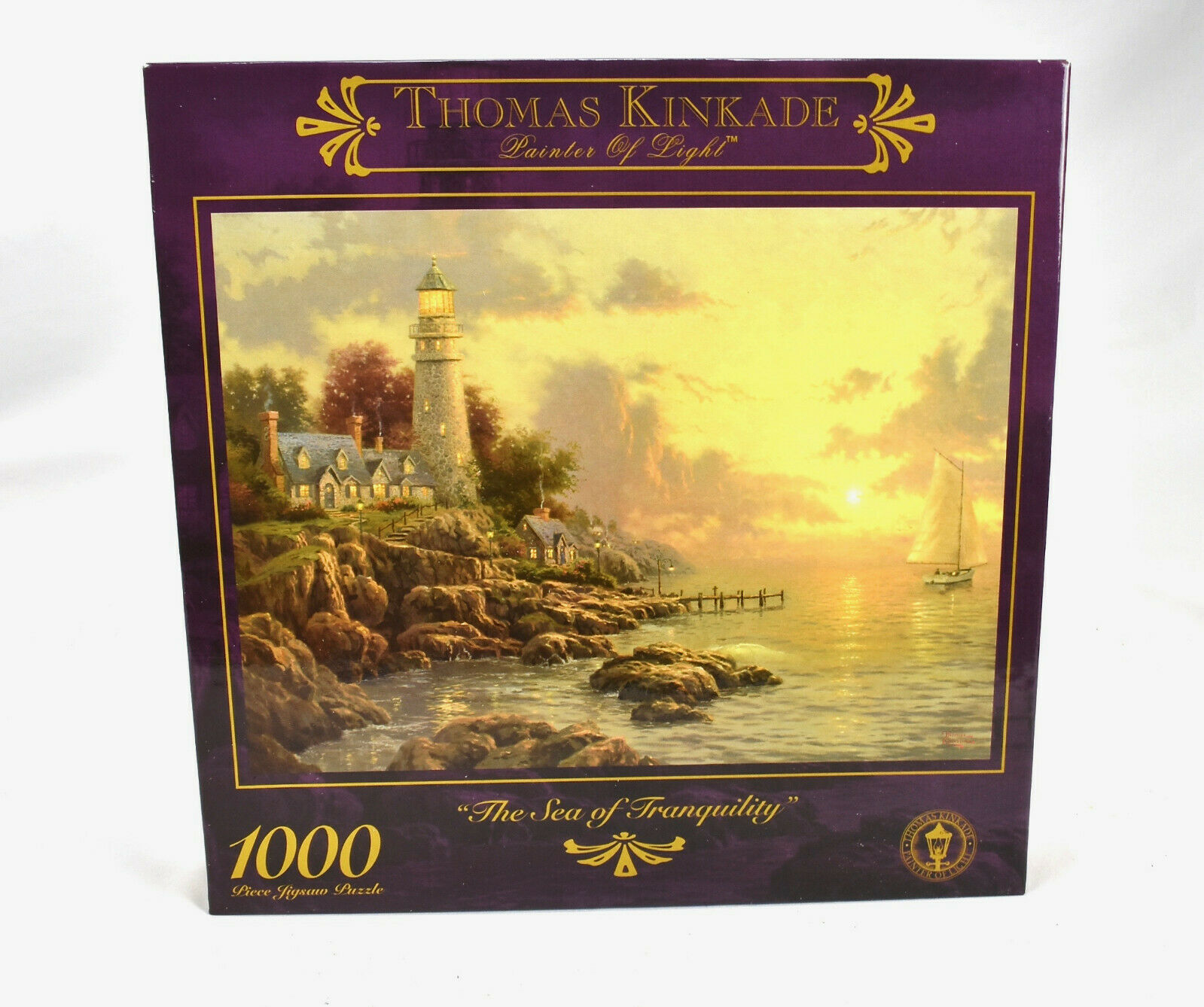 Vtg Thomas Kinkade Sea of Tranquility Jigsaw Puzzle A Quite Evening 1000 pc  - $29.65