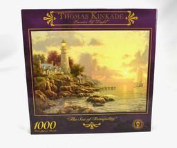 Vtg Thomas Kinkade Sea of Tranquility Jigsaw Puzzle A Quite Evening 1000... - $29.65