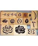 Stampin' Up 2 step stampin - Rose Rhapsody floral, butterfly - set of 13 - $35.00