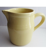 Marked ? Yellow Pottery Pitcher Maker? Good Quality - $15.00