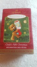 1996 Hallmark Keepsake Ornament MY FIFTH CHRISTMAS Childs Age Collection Bear - $5.93