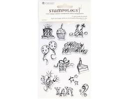Autumn Leaves Light the Candles Clear Cling Stamp Set #AL2745