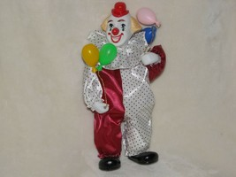 "Far Horizons Musical Porcelain Clown Wind Up Moves Movement Motion 10"" - $49.49"