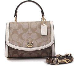 COACH MICRO TILLY TOP HANDLE IN BLOCKED SIGNATURE CANVAS MSRP: $298.00 - $148.49