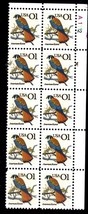 USPS Stamps - ONE cent stamp COMMEMORATIVE American Kestrel 1999 Block o... - $5.25